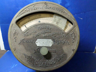 antique weston voltmeter early 1900s
