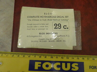 Vintage Elco Ind Complete HO Railroad Decal Sheet in Open Pack Great Northern