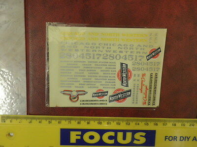 Vintage Elco Ind  HO Railroad Decal Sheet Open Pack  Chicago North Western