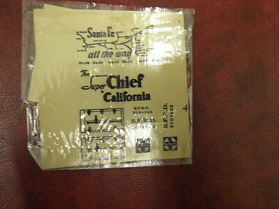 Vintage HO Railroad Decal Sheets Sante Fee Super Chief to California Open Pack