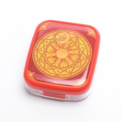 Anime Cardcaptor Clow Card Pattern Contact Lens Cases Girls Box Cosplay Props