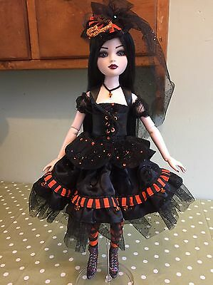 "Steampunk Halloween Witch Outfit Ellowyne Wilde Imperium Park 16"" Dolls"