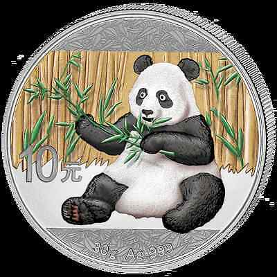 10Yuan China Panda Tag / Day Farbe-colored BU 2017 - PRE Sale