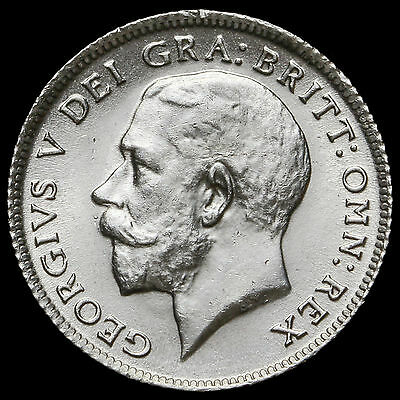 1912 George V Silver Sixpence – Harder Date – BU
