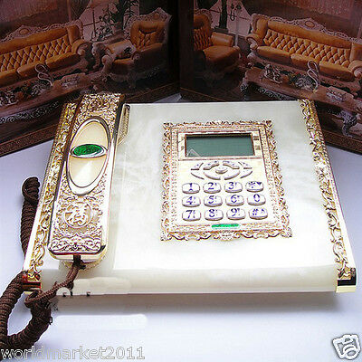 !European Style Resin + Solid Wood Antique Fashion Business Dial Telephone