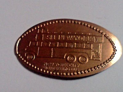 """NEW YORK CITY SIGHTSEEING BUS-Elongated / Pressed Penny-""""copper"""" N-64"""