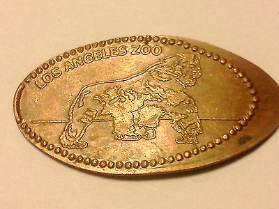 """LOS ANGELES ZOO-Elongated / Pressed Penny-""""copper"""" B-290"""