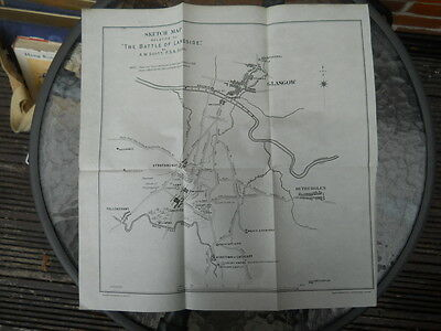 Sketch Map relative to The Battle of Langside,  A.M. Scott, c1890