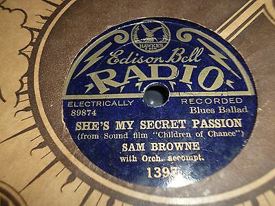 """Collection Bundle of 6x Edison Bell Radio 8"""" 78RPM Gramophone Records 31/42"""