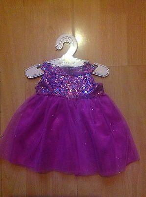 Build A Bear Sparkly Sequin Dress Outfit Brand New With Tags
