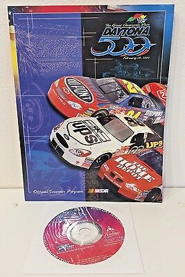 2001 Nascar Daytona 500 International Speedway Official Souvenir Program with CD