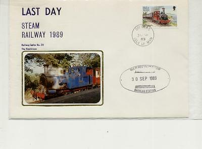 Isle of Man 1989 Last Day of Steam Railway Cover