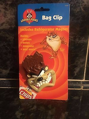 Taz Bag Clip And Magnet New On Card