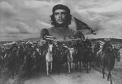 """Che Guevara Flagge / Fahne """"horses / Quer"""" Poster Flag Posterflagge"""