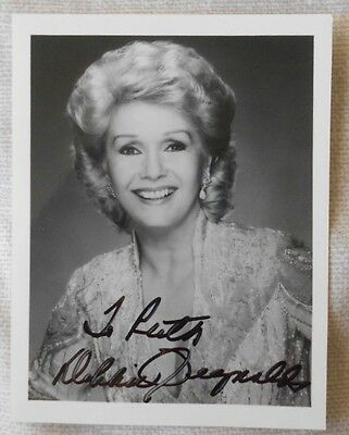Debbie Reynolds hand signed photo - Singing in the Rain