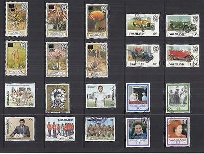 y535 Swaziland / A Small Collection Early Issues Used