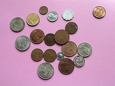 20 assorted coins mainly UK