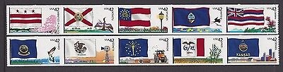 Usa 2008 Flags Of Our Nation Series 2 Set Of 10 Nh/um