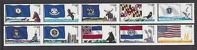 Usa 2009 Flags Of Our Nation Series 3 Set Of 10 Nh/um