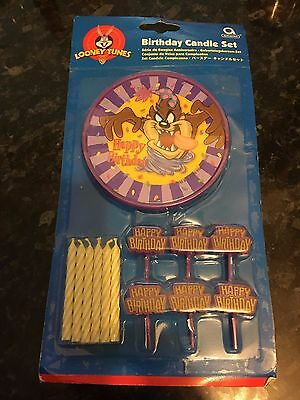 ***rare***taz Birthday Candle Set Sealed