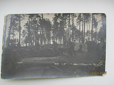 Ww I Russia Artillery Cleaning Of Cannons , Old Rppc , M