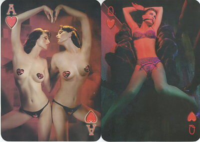 Spielkarten playing cards Pin-Up Akt Nude Erotic Sexy erotik Enland 2000 E6.19v.