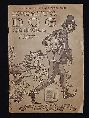 EARLY 20thC SPRATT'S DOG CULTURE -  x48 PAGE BROCHURE - ILLUSTRATED