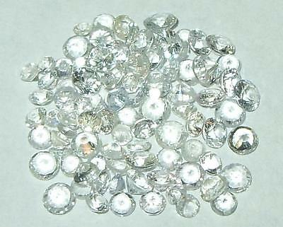 6.24ct Lot 90pcs Sri Lanka Natural White Sapphire Rounds 2 - 3mm SPECIAL