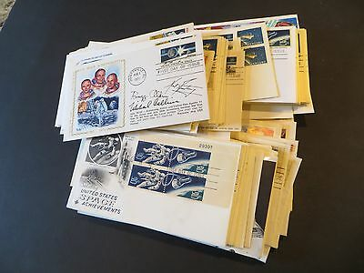 185+ US Space stamp 1960s-1990s First Day Covers - incl. some combos & better