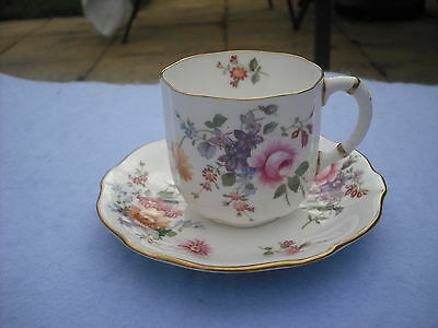 Royal Crown Derby Cup and Saucer - Derby Posies