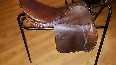 "15 1/2"" Brown Leather Pony Saddle"