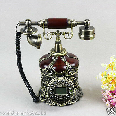 New European Style High Grade Resin Bronze Antique Ancient Dial Telephone..