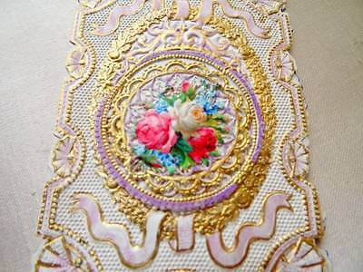 A Stunning Antique Victorian 1890's Paper Lace Mothers Day Poem.