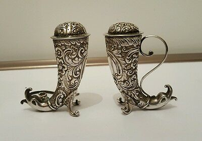 Stunning Large Pair of Norwegian Solid Silver (tested) Pepper Pots Scandinavian