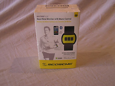 Scosche Heart Rate Monitor Rhythm Pulse FIT ness Yellow Android & iPad iPod New