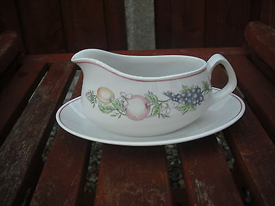 Boots Orchard Pattern Gravy Boat and Stand