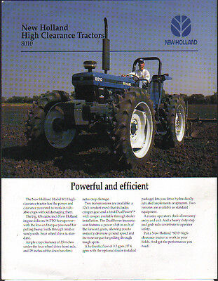 """New Holland """"8010"""" High Clearance Tractor Brochure Leaflet"""