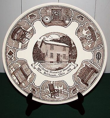 "1976 Kettlesprings Kilns Bellbrook Ohio Historical Museum 10"" Historic Plate VG"