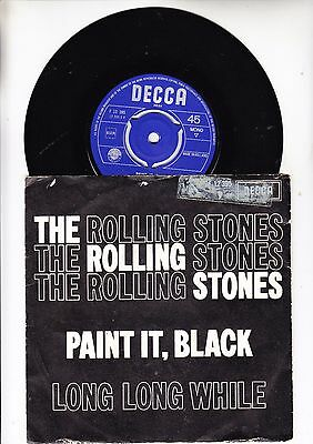 """The Rolling Stones  Single 7""""    Paint It Black  Made In Holland"""