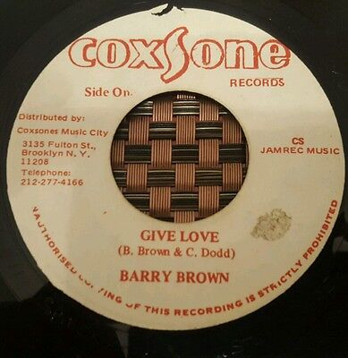 """Barry Brown Give Love Studio One 7"""" Listen !"""