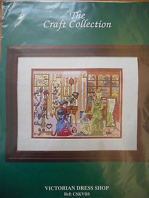 Victorian Dress Shop Cross Stitch Kit -NEW by The Craft Collection -discontinued