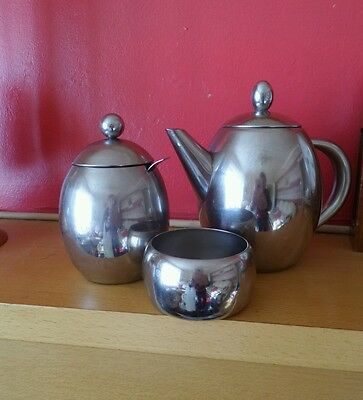 Small stainless steel teapot