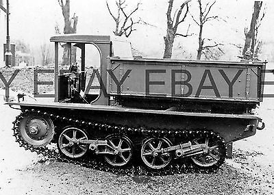 c1935 British Army Vickers Experimental Tractor  Photograph