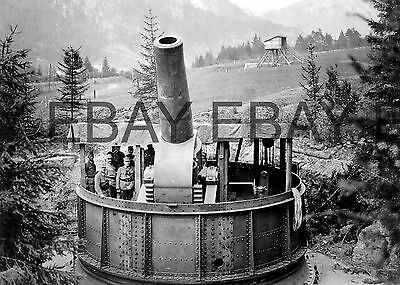 WW1 Austrian Army 42cm Heavy Artillery Gun World War One Photograph