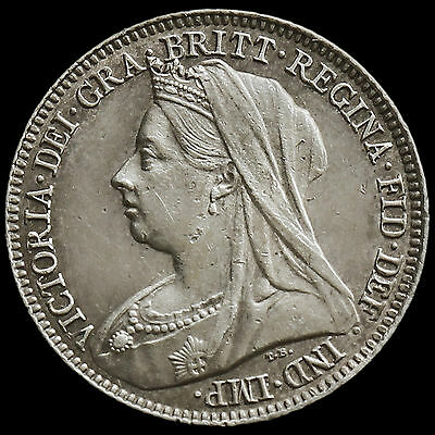 1897 Queen Victoria Veiled Head Sixpence – G/EF