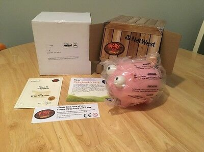 Natwest Pig PIGBY NEW Piggybank Boxed Certificate Moneybox Not Wade Fast Post