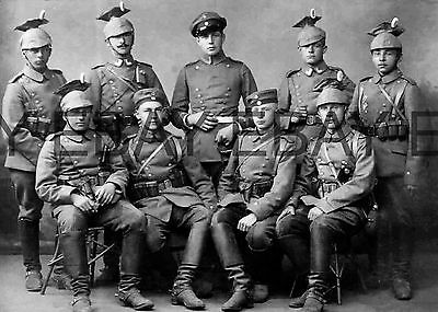 WW1 c1914 German Cavalry Uhlan Group First World War  Photograph