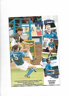 Chesterfield  v  Carlisle United, 5th March 1994