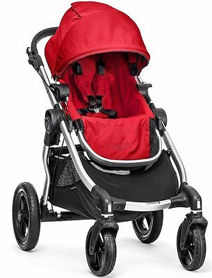 Baby Jogger City Select All Terrain Single Stroller Silver Frame Ruby NEW 2017