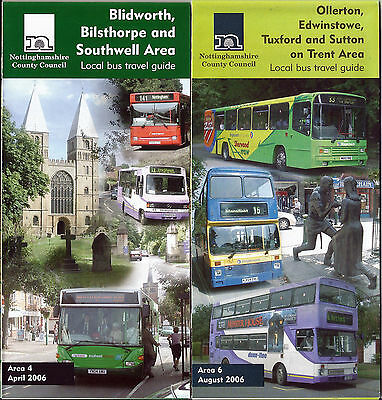 Nottinghamshire CC Blidworth & Ollerton Local Bus Travel Guides  - 2006